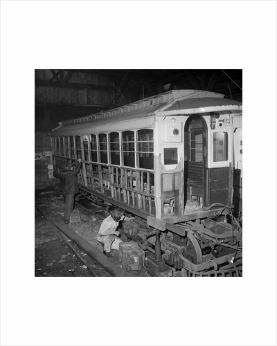Manx Electric Railway car being rebuilt by Manx Press Pictures