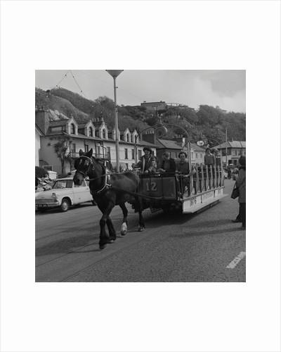 Horse tram parade, Douglas Promenade by Manx Press Pictures