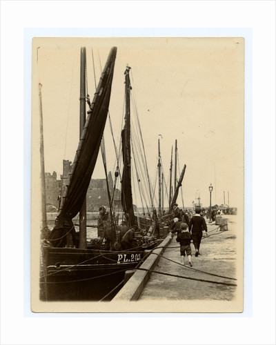 Herring boats on the quayside at Peel by James Hatfield