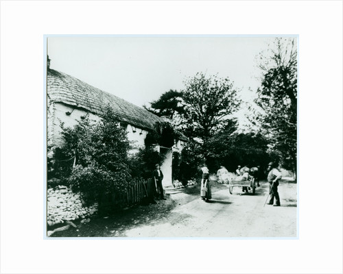 Miss Kneale's thatched cottage, Sulby Glen by George Bellett Cowen