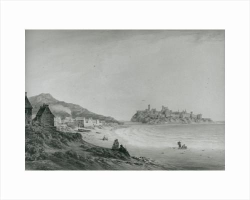 Peel Castle from the beach c.1795 by John 'Warwick' Smith