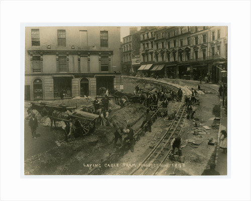 Laying cable tram, Prospect Hill, Douglas by John James Frowde