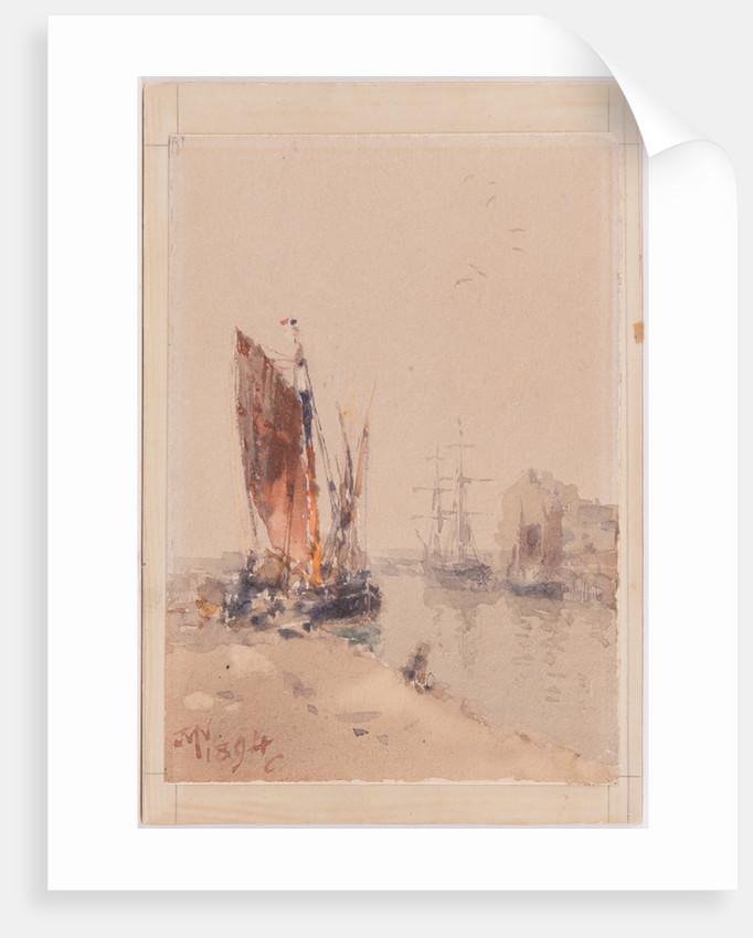 Quay Scene, 1894 by John Miller Nicholson