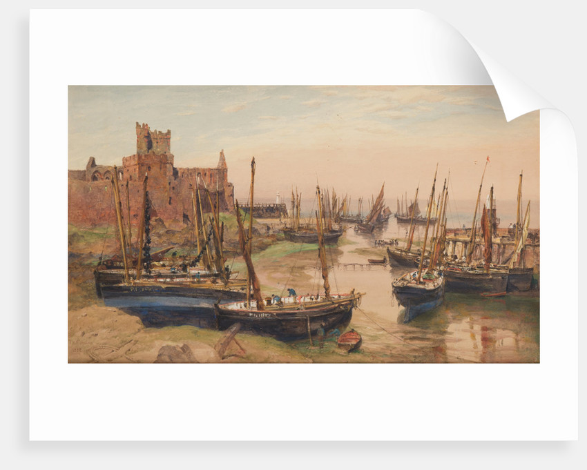 Peel Castle and Harbour by John Miller Nicholson