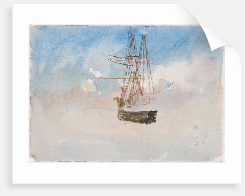 Unfinished coastal scene by John Miller Nicholson