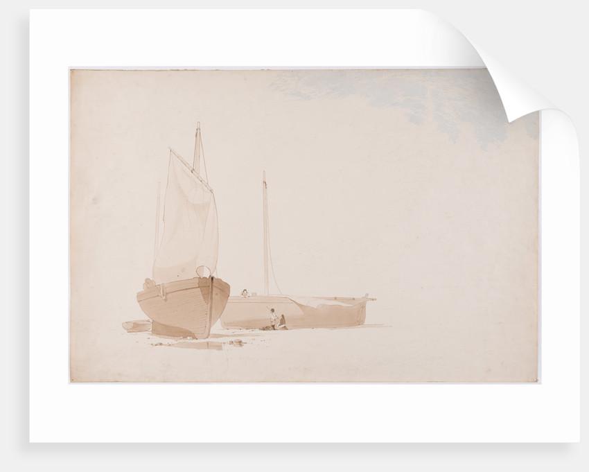 Painting fishing boats by John Miller Nicholson