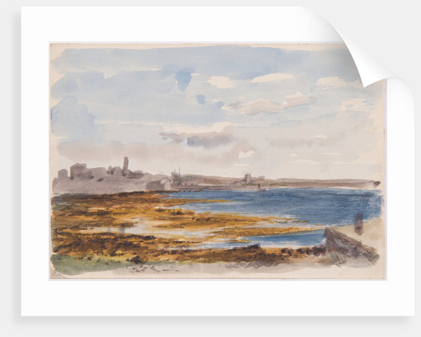 Castletown, Castle Rushen and King William's College by John Miller Nicholson