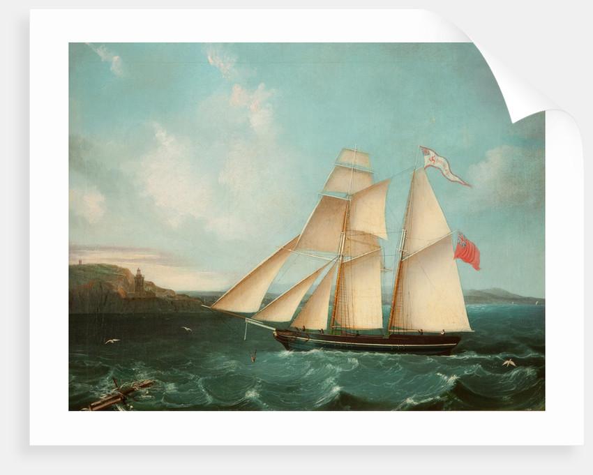 Sailing mail schooner the 'Douglas' entering Douglas harbour by Anonymous