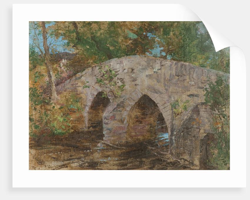 The Crossag or Monks Bridge, Rushen Abbey, Malew by Robert Duddingstone Herdman