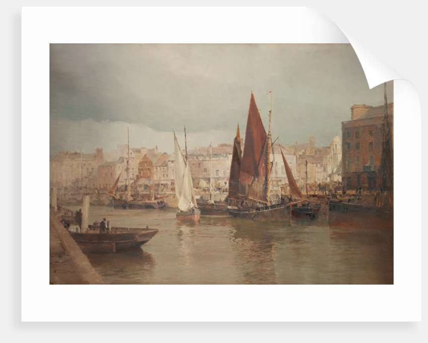 The North Quay with old St Matthew's by John Miller Nicholson