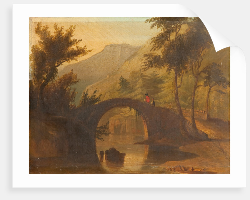 Sulby Glen old bridge by L. C. Sewell