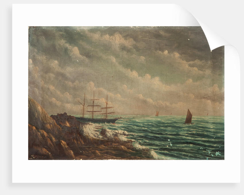 Wreck of the Thorn, Onchan Head by William Askew