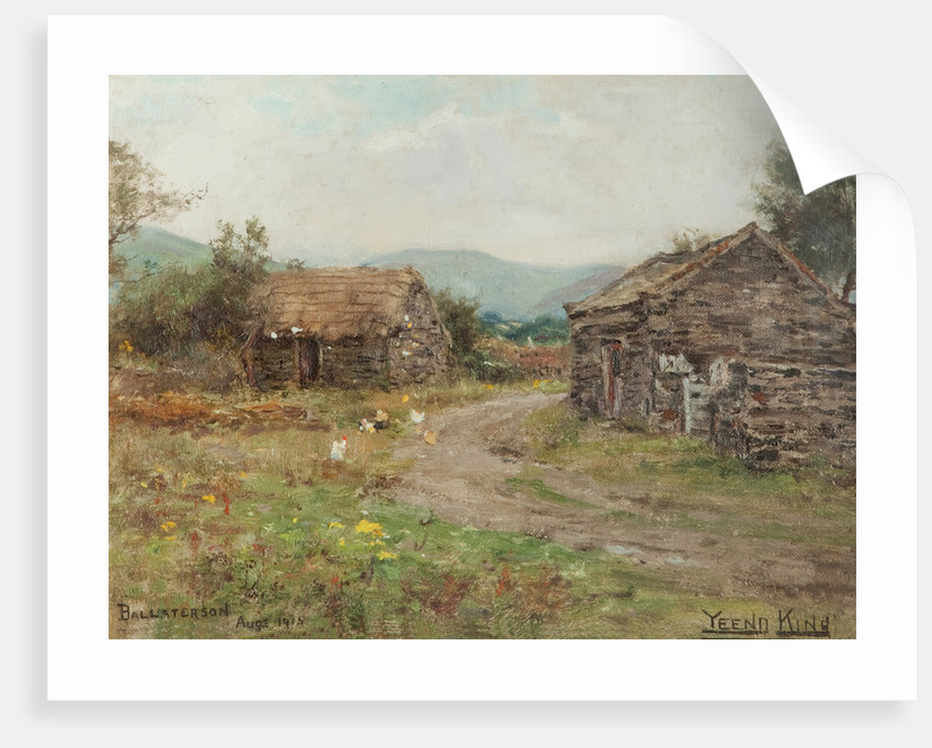 Cottages at Ballaterson, Ballaugh by Henry John King