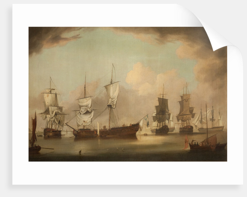 The Squadrons of Thurot and Elliot in Ramsey Bay by Wright