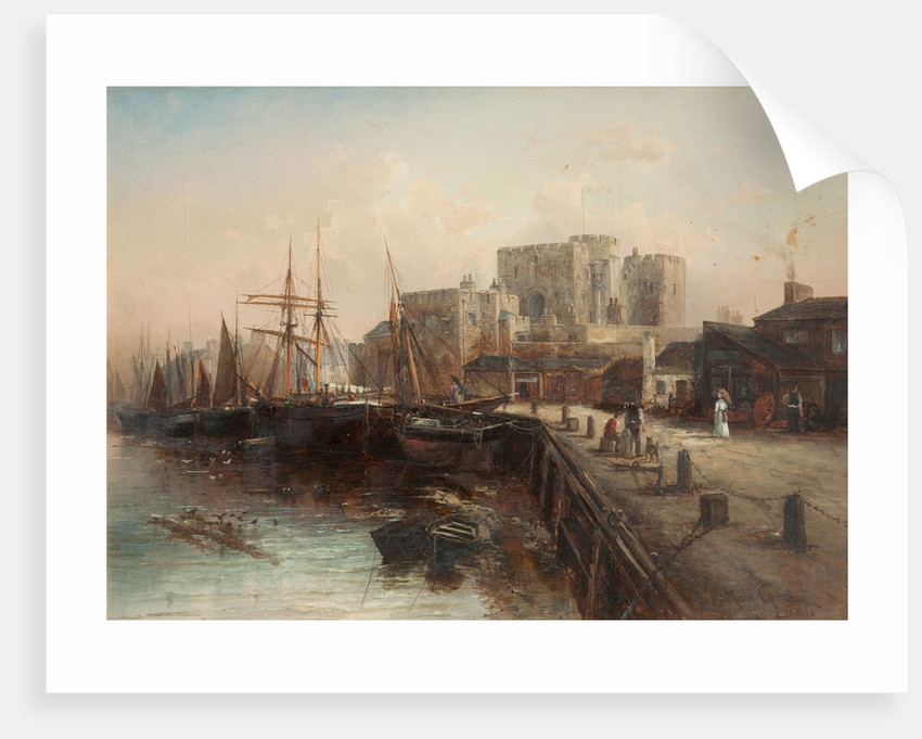 Castle Rushen and Harbour by Max Crouse
