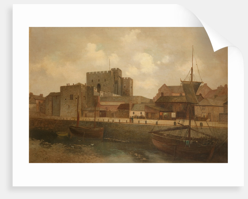 Castle Rushen and Harbour by Alfred Benjamin Cole