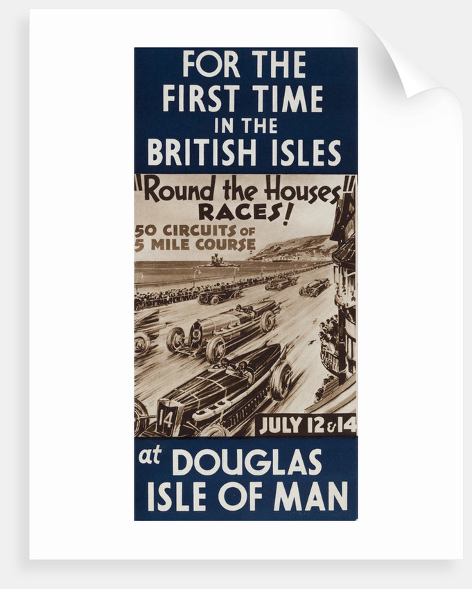 Round the Houses Races at Douglas Isle of Man July 1933 by Anonymous