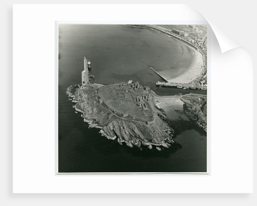 Aerial view of Peel Castle taken from the west by Manx Technical Publications Ltd