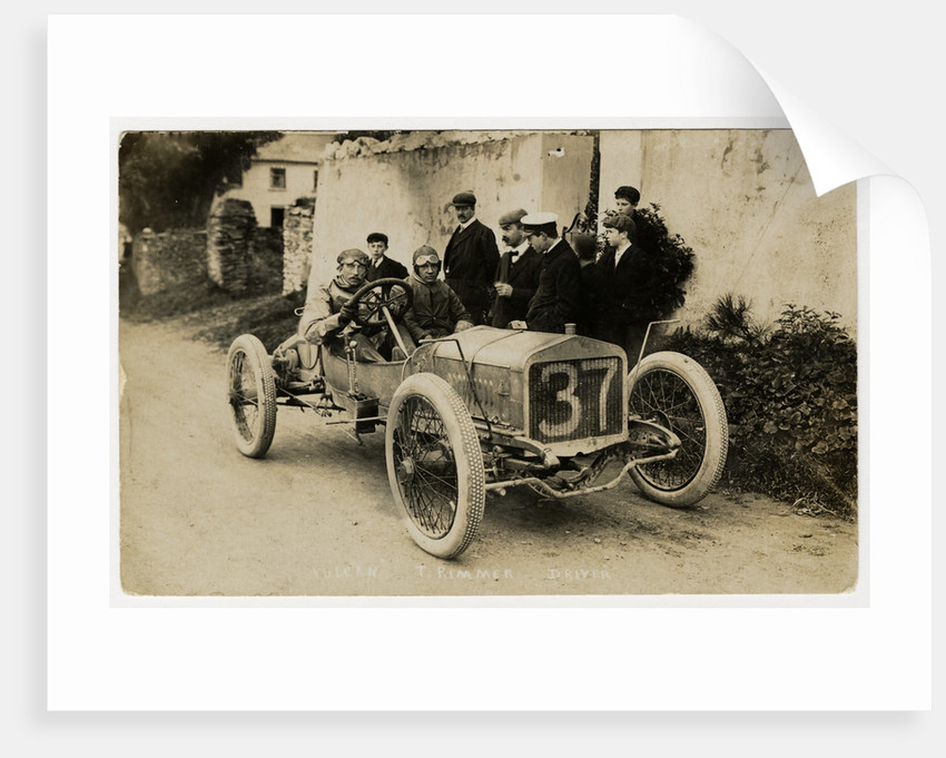 Tom Rimmer in a Vulcan, 1908 Tourist Trophy motorcar race by Anonymous