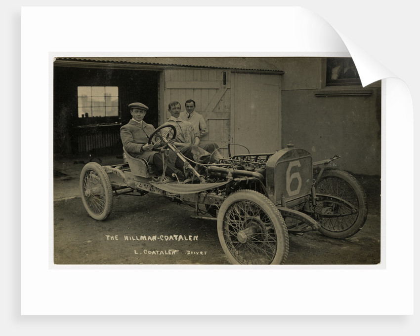 Louis Coatalen in a Coatalen, 1908 Tourist Trophy motorcar race by Anonymous