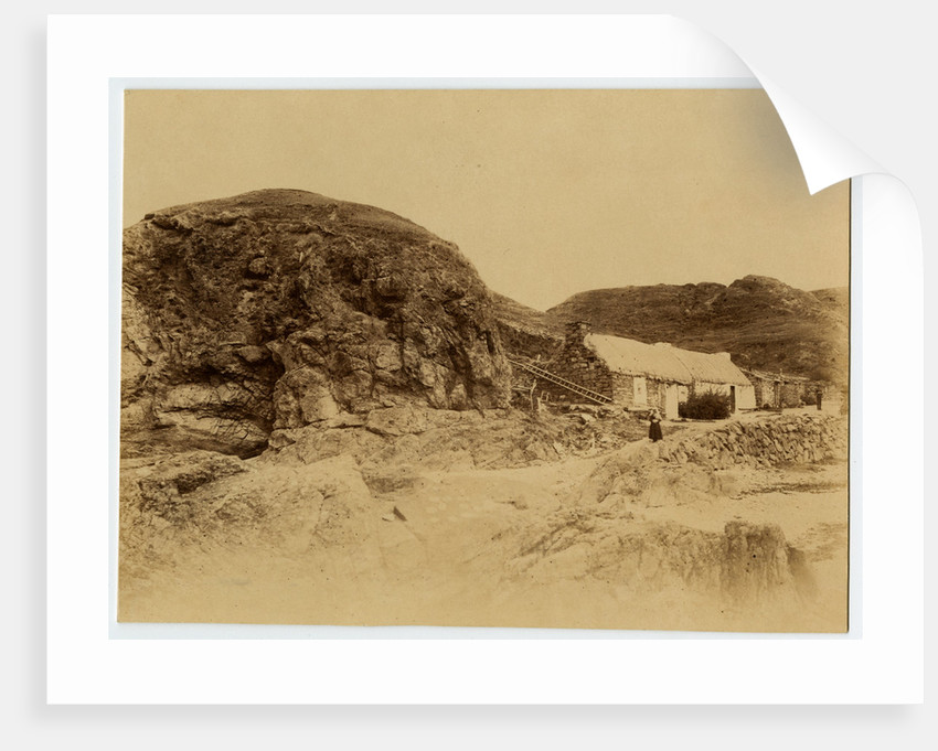 Fisherman's cottage, Niarbyl beach by Anonymous
