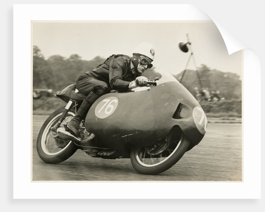 Alistair King, TT (Tourist Trophy) rider riding as number 76 by T.M. Badger
