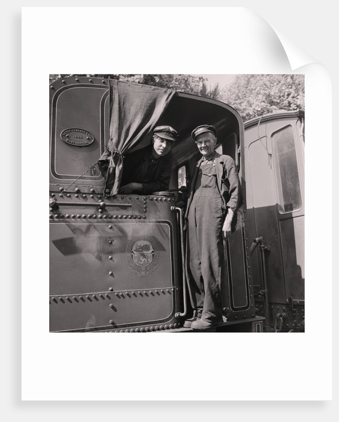 Steam train and engine drivers by Manx Press Pictures