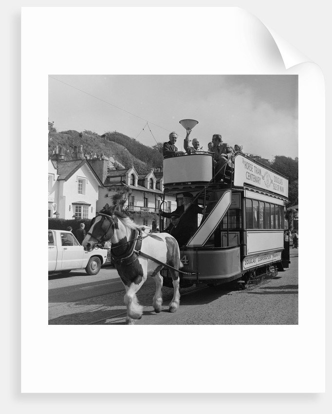 Horse tram parade, Douglas Promenade by Manx Press Pictures