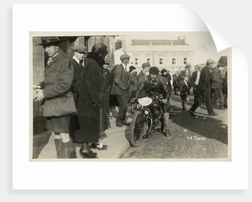 T.R. Jones on a motorcycle by Thomas Horsfell Midwood