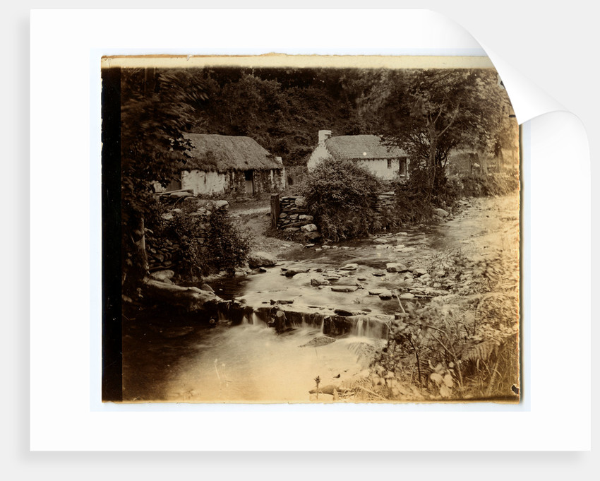 Glen Auldyn Cottages and weir by W. H. Tomkinson