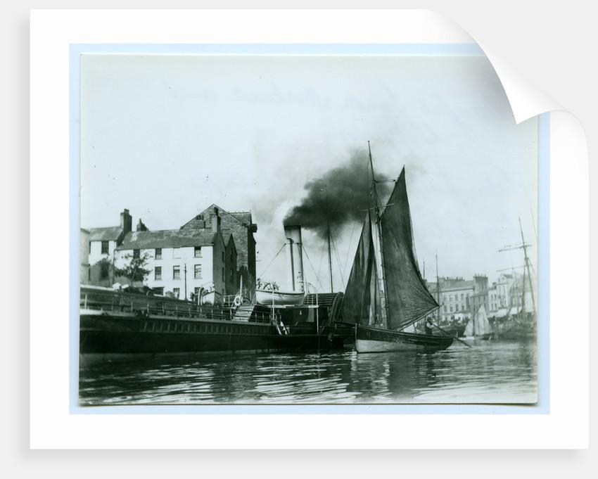 Douglas Inner Harbour and shipping by John Miller Nicholson