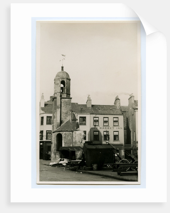 Old St Matthew's church during demolition, Douglas by John James Frowde