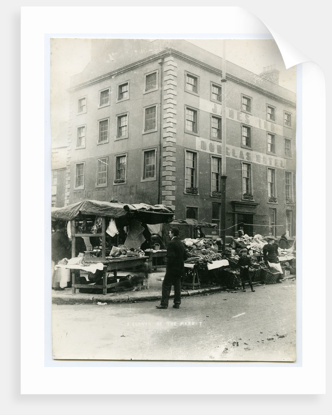 A corner of the market, Douglas by Anonymous