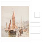 Fishing boats, Douglas Harbour by John Miller Nicholson