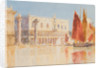 The Doge's Palace and fruit stalls by John Miller Nicholson