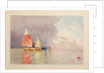 Fishing boats (Bragazzi) at moorings by John Miller Nicholson