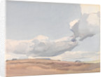 White clouds in a pale blue sky by Archibald Knox