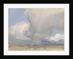 Large clouds over a harvested field by Archibald Knox
