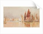 Vessels in Douglas Harbour by John Miller Nicholson