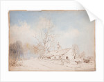 Unfinished sketch of cottage by John Miller Nicholson