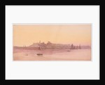 Peel Castle and beach at Sunset by John Miller Nicholson