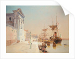 A quay scene, Venice by John Miller Nicholson