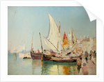 Barges, the Grand Canal, Venice by John Miller Nicholson