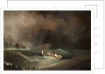 Ship caught in storm by Anonymous