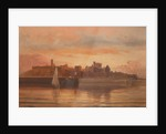 Peel Castle from the sea, at sunset by George Goodwin