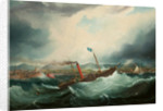Painting of the Isle of Man Steam Packet Co. vessel 'Mona's Isle' by Samuel Walters