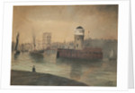 Douglas Harbour and Old Red Pier by F. C. Gelling