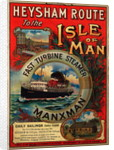 Heysham route to the Isle of Man on the fast turbine steamer 'Manxman' by Tom Browne