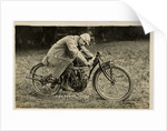 Jake de Rosier poses aboard an Indian machine, 1911 TT (Tourist Trophy) by Anonymous