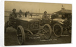 Thornycroft cars arriving at Douglas, 1908 Tourist Trophy motorcar race by Anonymous